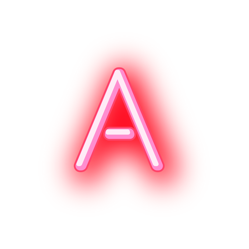Neon letter png. Lettera neonletter a sticker