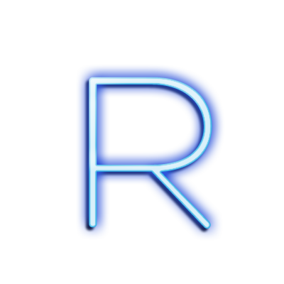 Neon letter r png. Clipart at getdrawings com