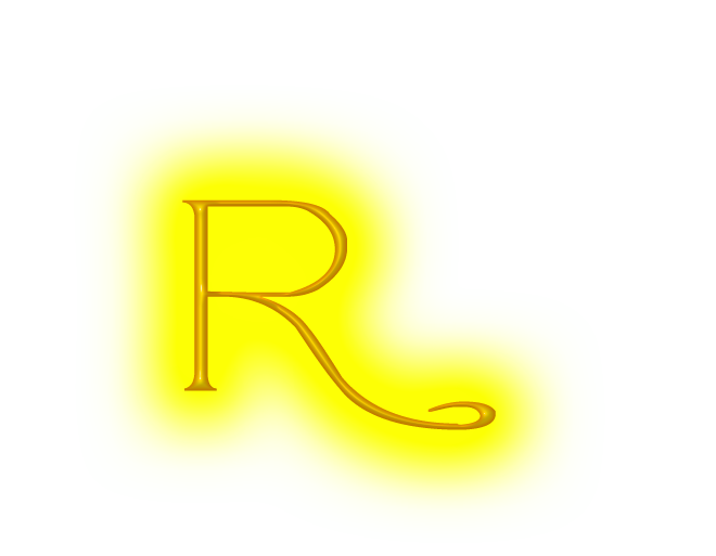 Neon letter r png. Yellow by neonlettersplz on