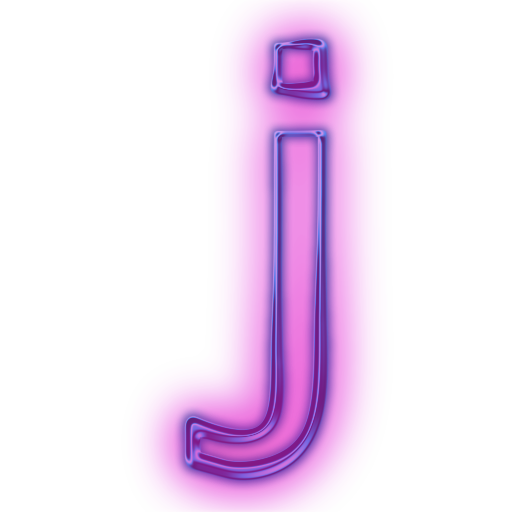 Transparent j neon. Icons download png letter