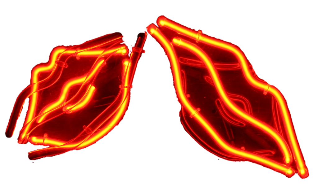 Neon lights png. Light lips by jeanicebartzen