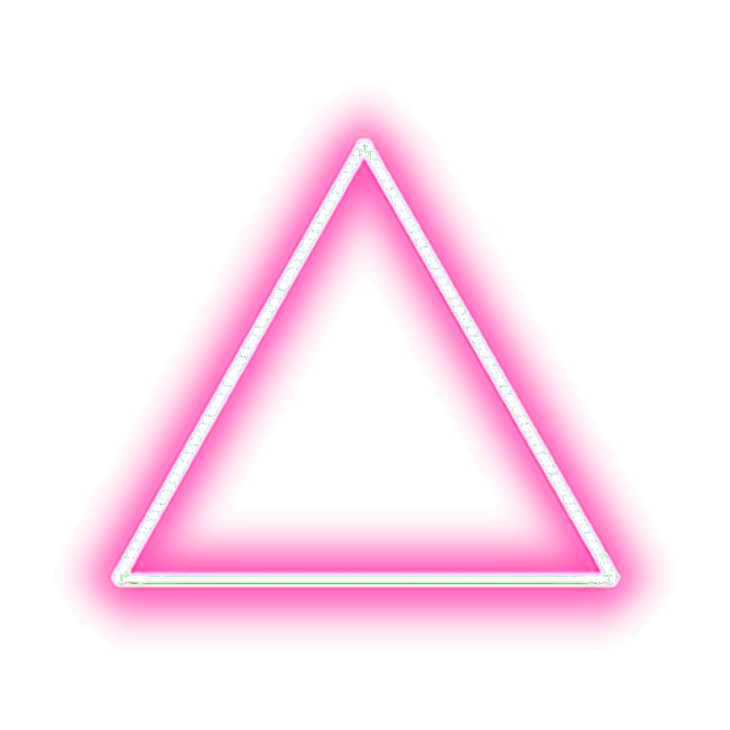 Neon lights png. Triangle pink freetoedit