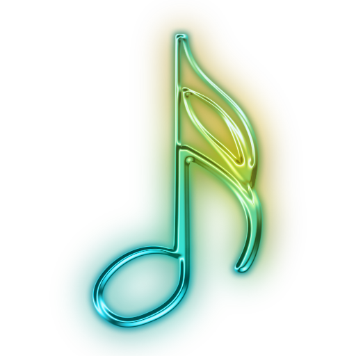 Neon music note png. Photos icon free icons