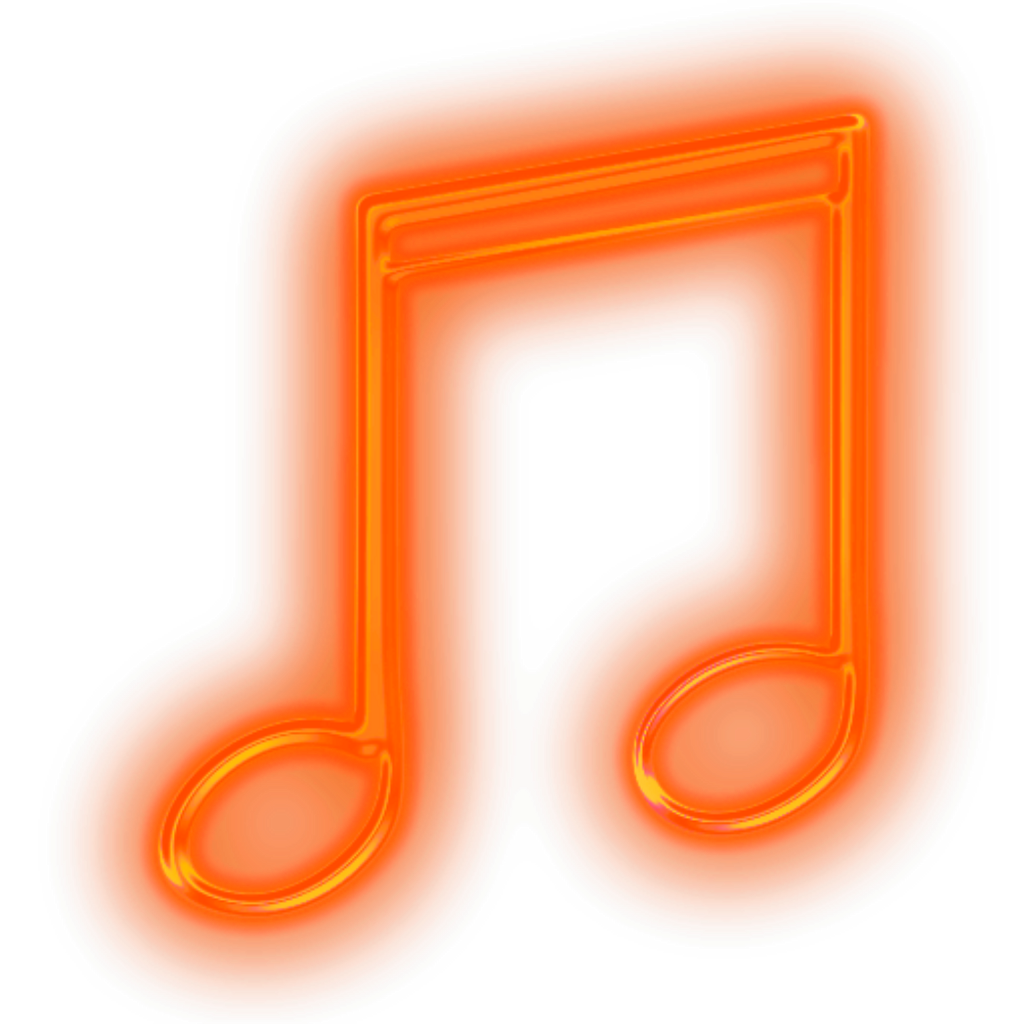 Neon music note png. Ftestickers musicnote glowing