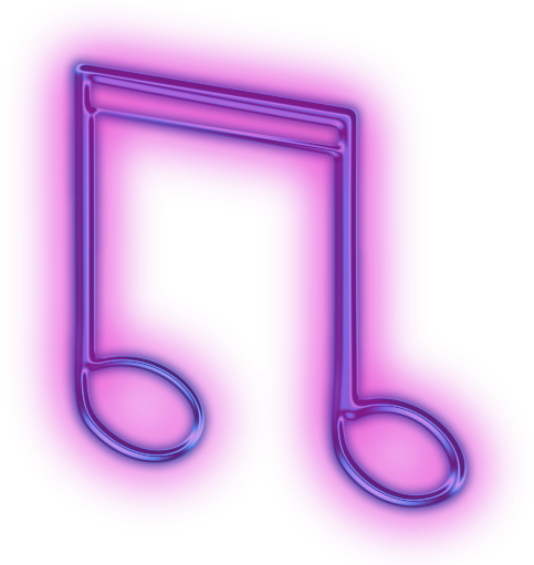 music note png neon