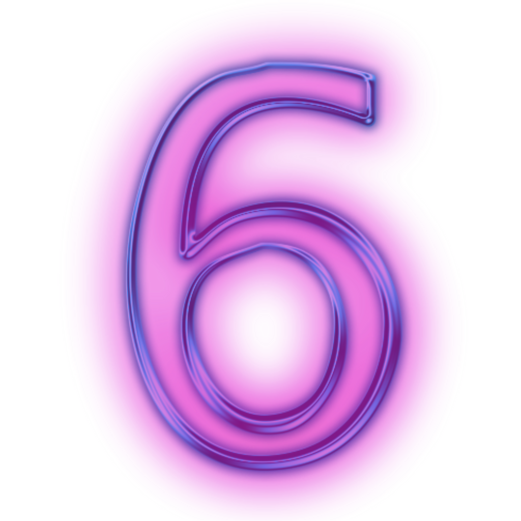 Neon numbers png. Tumblr purple number sticker
