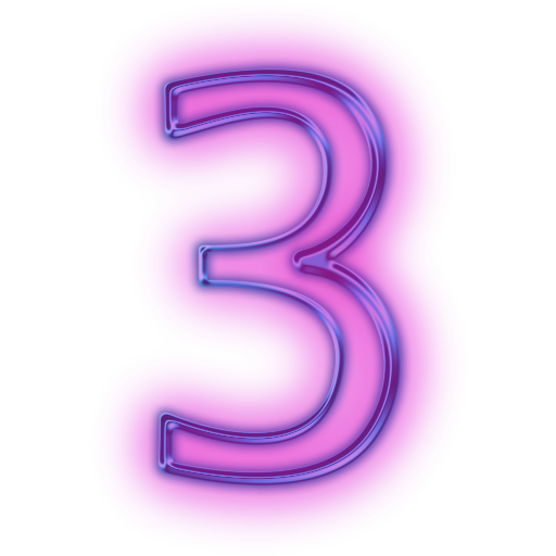 Neon numbers png. Number files free icons