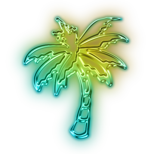 Neon palm tree png. Clipart pencil and in
