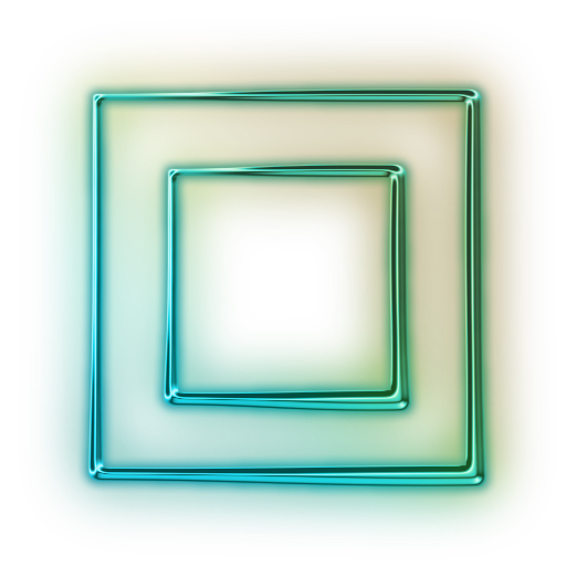 Neon square png. Frame transparent pictures free