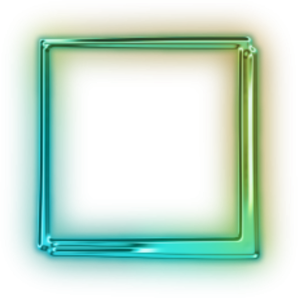 Neon square png. Shape quadrado freetoedit