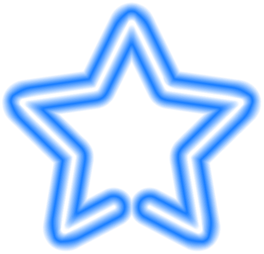 Neon transparent blue. Star png free images