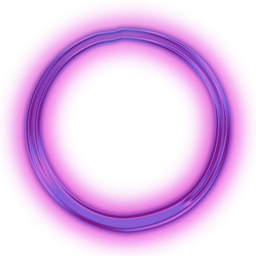 Neon transparent circle. Oo o on scratch