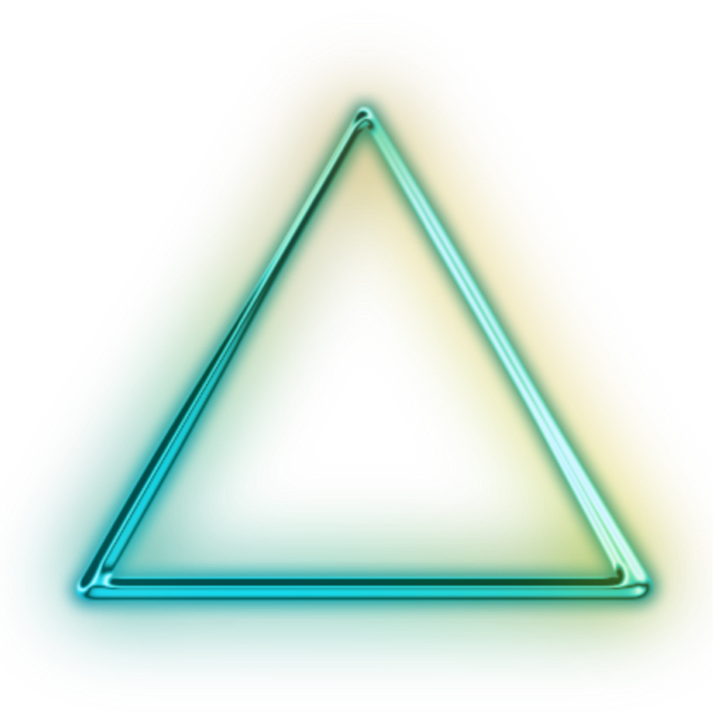 Neon transparent glowing triangle. Shape trianglefreetoedit