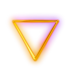Neon transparent glowing triangle. The newest stickers on