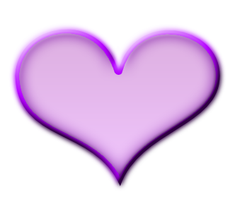 Neon transparent purple heart. Gloss by missesambervaughn on