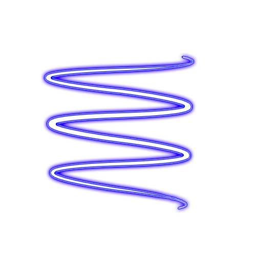 Neon transparent swirl. Blue png by maddielovesselly