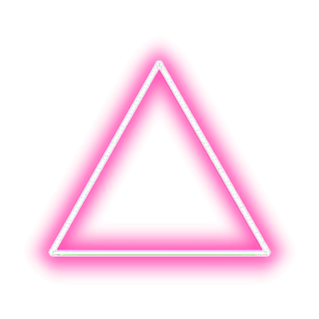 Neon triangle png. Pink tumblr editpng pngedit