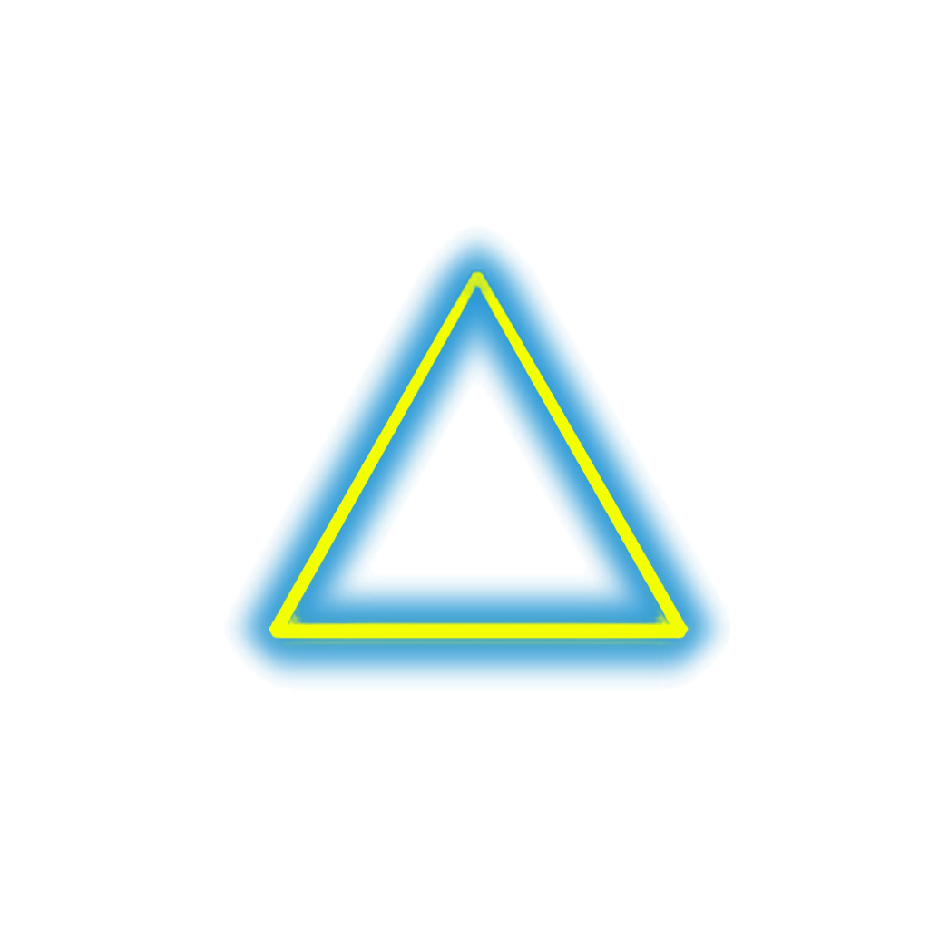 Neon triangle png. Flash cadre triangles luminous