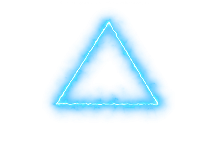 Neon triangle png. Avatan plus
