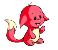 Transparent neopets red. Image kacheek cropped png