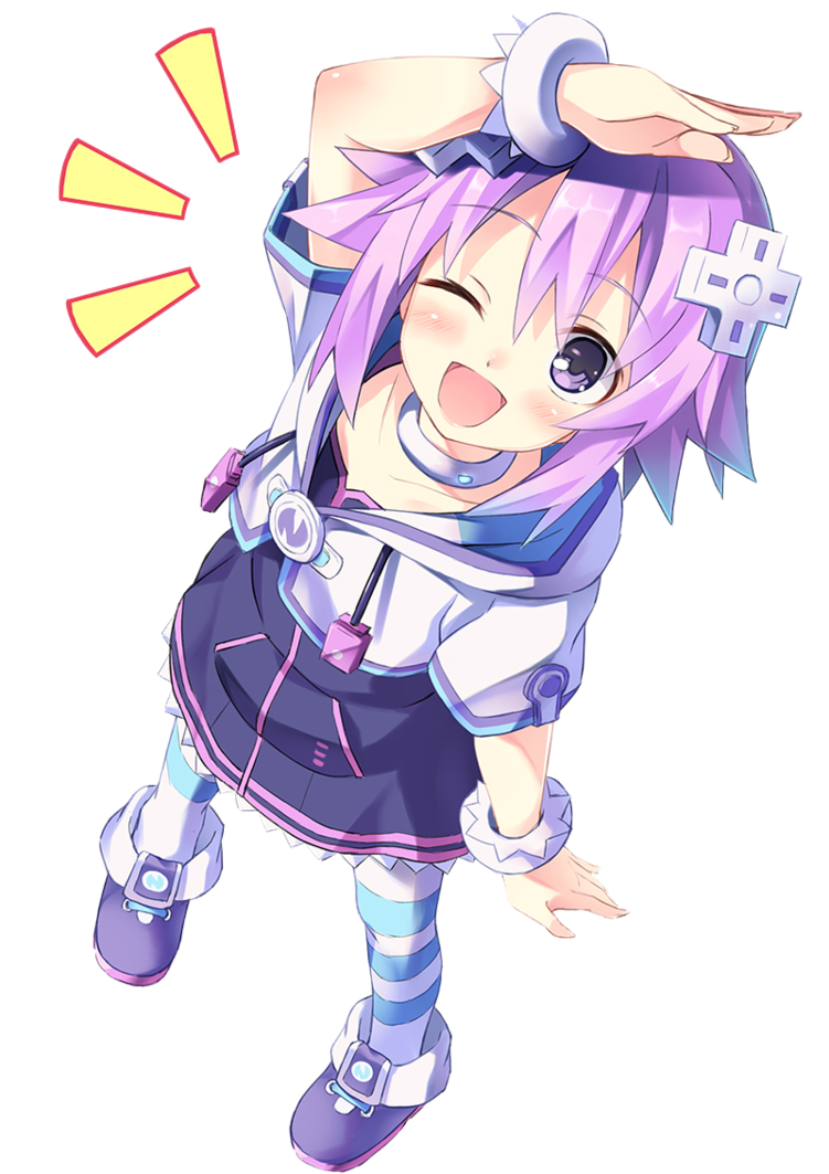 neptunia transparent anime oc