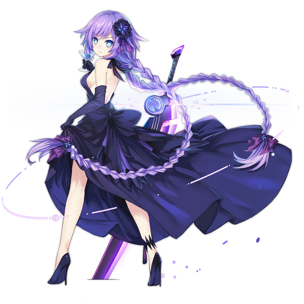 Neptunia transparent purple heart. R gamindustri daily character