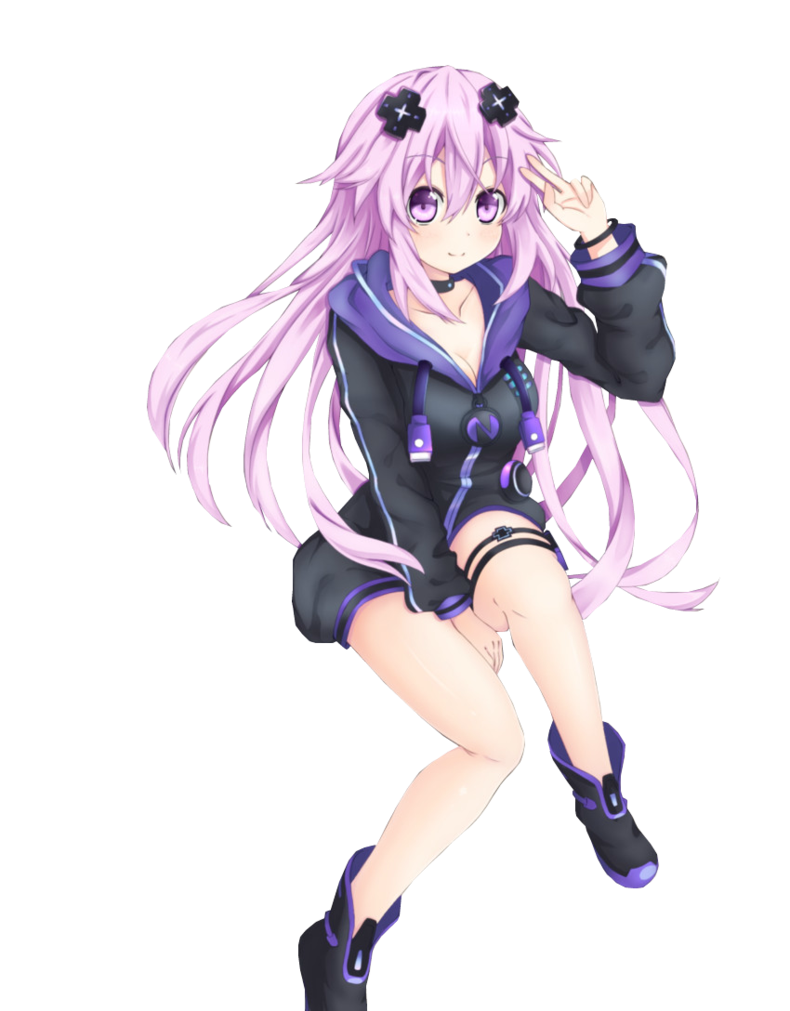 Neptunia transparent vocaloid. Adult neptune render by