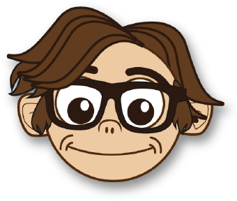 Nerd clipart brown hair brown eye. People clip art face