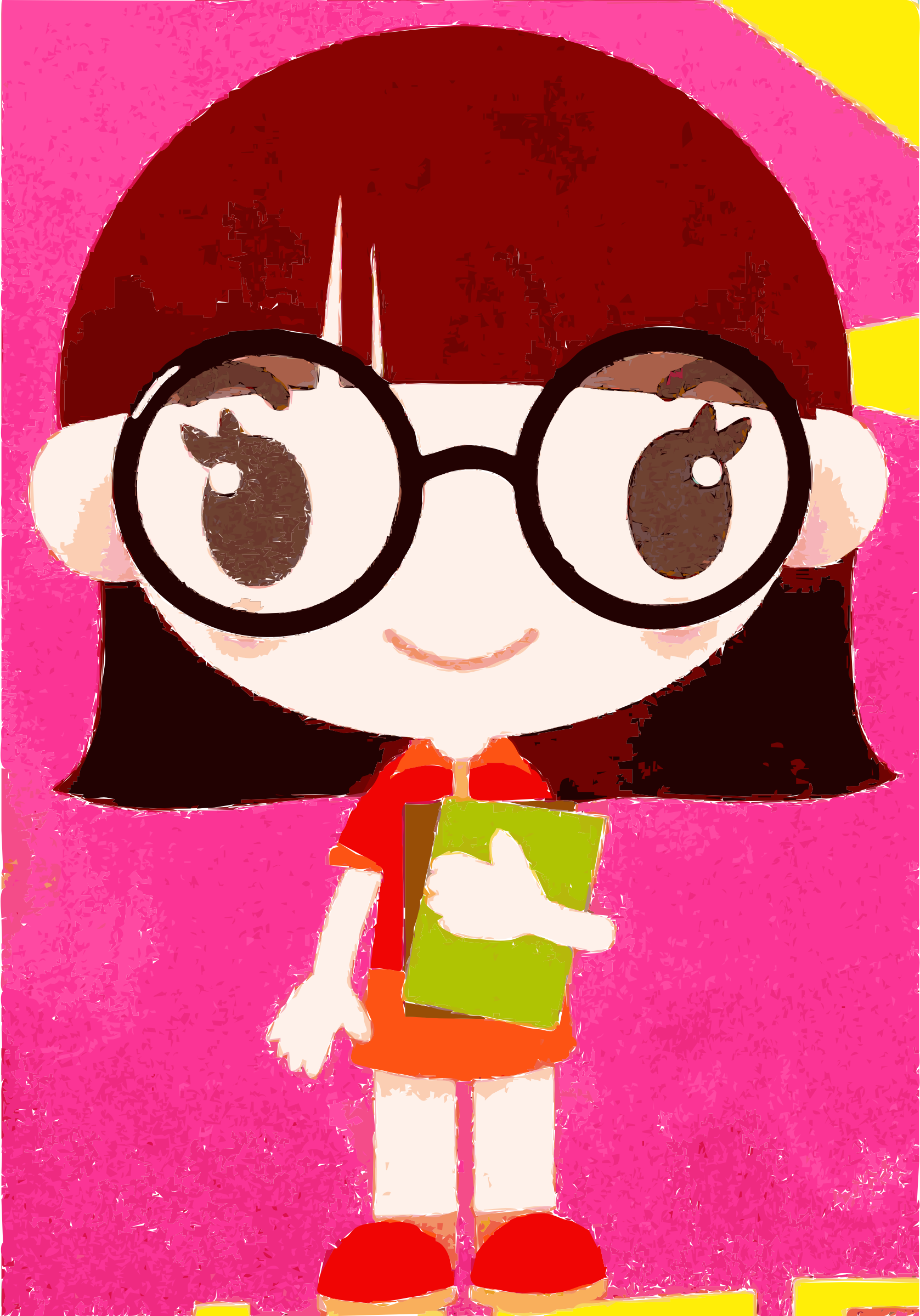 Nerd girl png. Free nerdy cliparts download