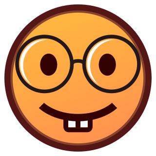 Nerd emoticon png. Face emojidex custom emoji