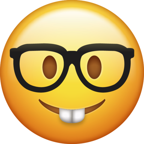 Nerd emoticon png. Download iphone emoji icon