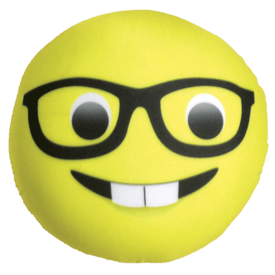 Nerd emoji png. Pillow iscream microbead