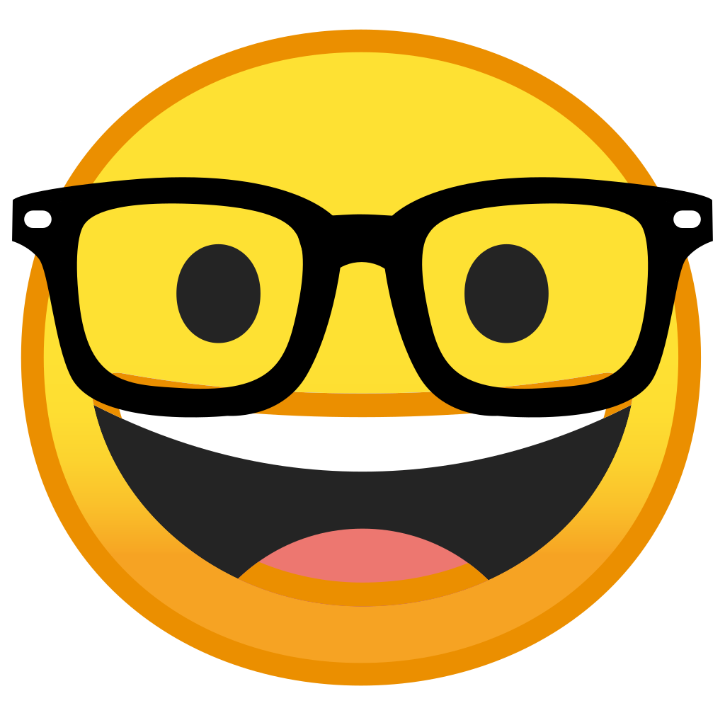 Nerd emoticon png. Face icon noto emoji