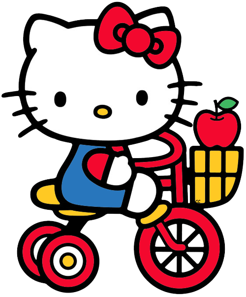 Nerd hello kitty png. Bicycle cycling pinterest hellokittybicyclepng