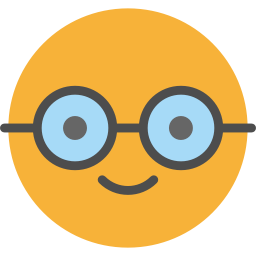 Nerd transparent emoji glass. Geek icon myiconfinder