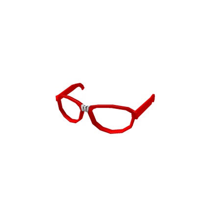 Nerd transparent red. Glasses takes roblox