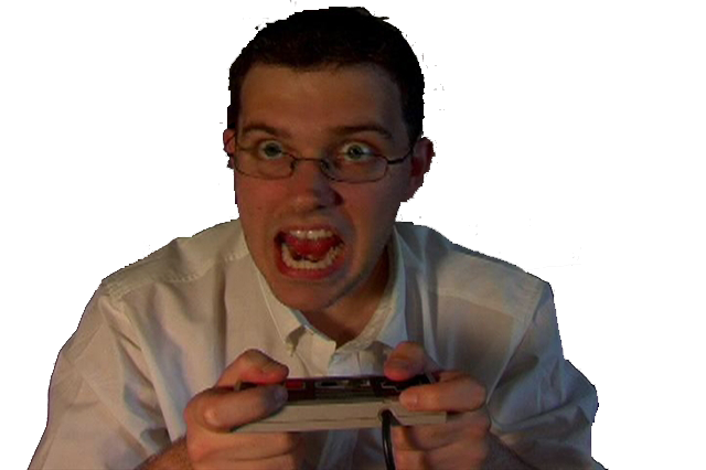 Nerd transparent video game. Image the angry know