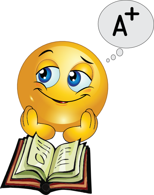Smiley clipart study. Free final exams cliparts