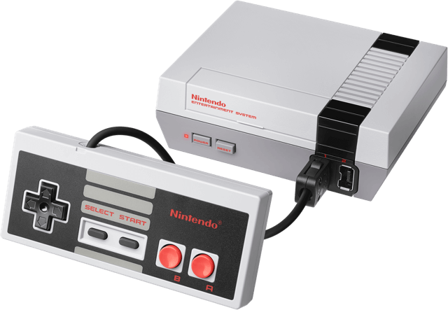 Nintendo entertainment system png. Nes classic edition console