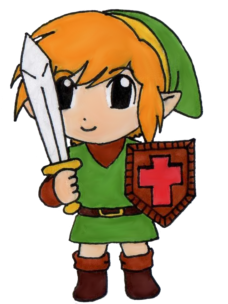 Nes link png. Chibi the legend of