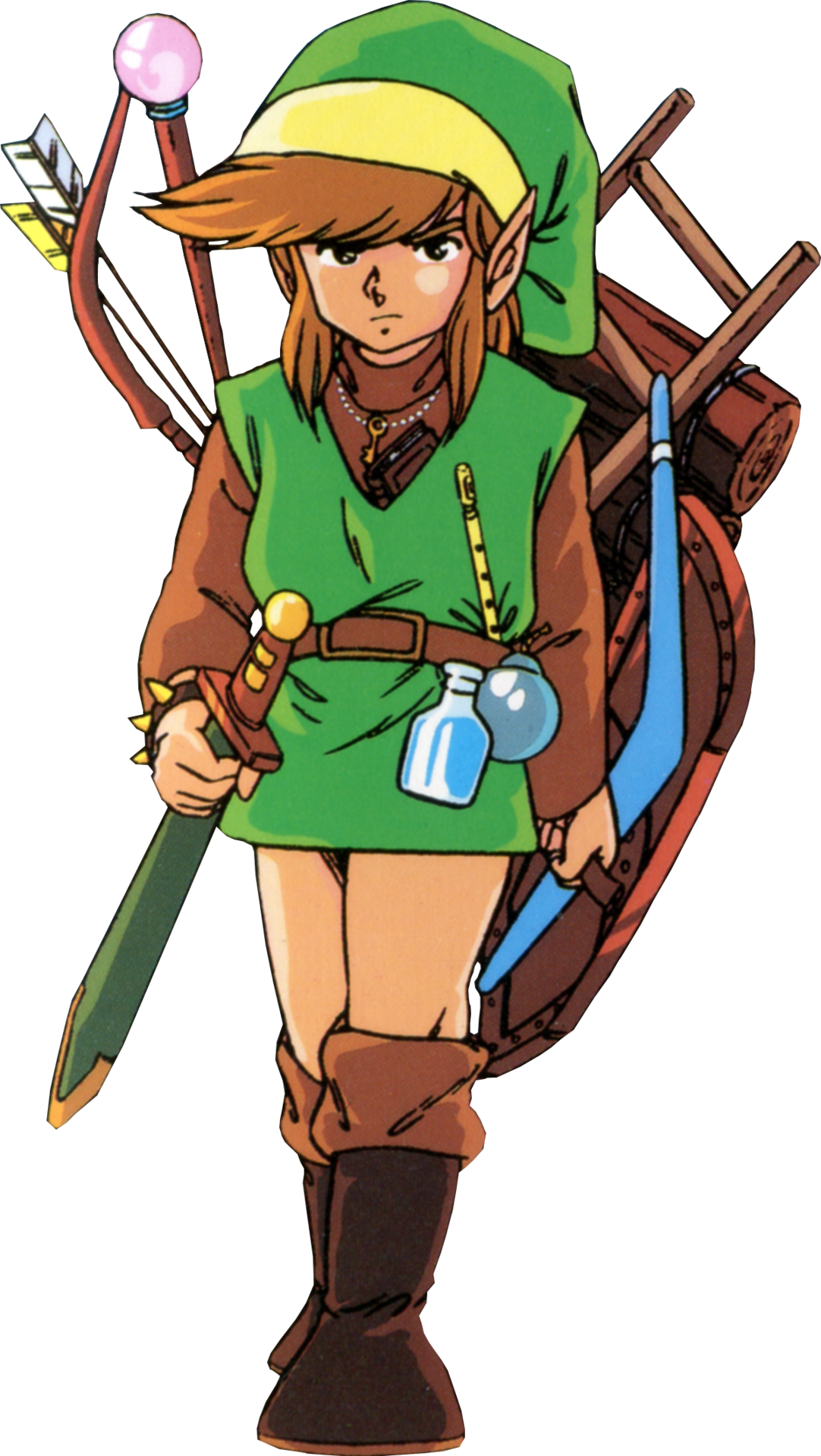 Nes link png. And his items from