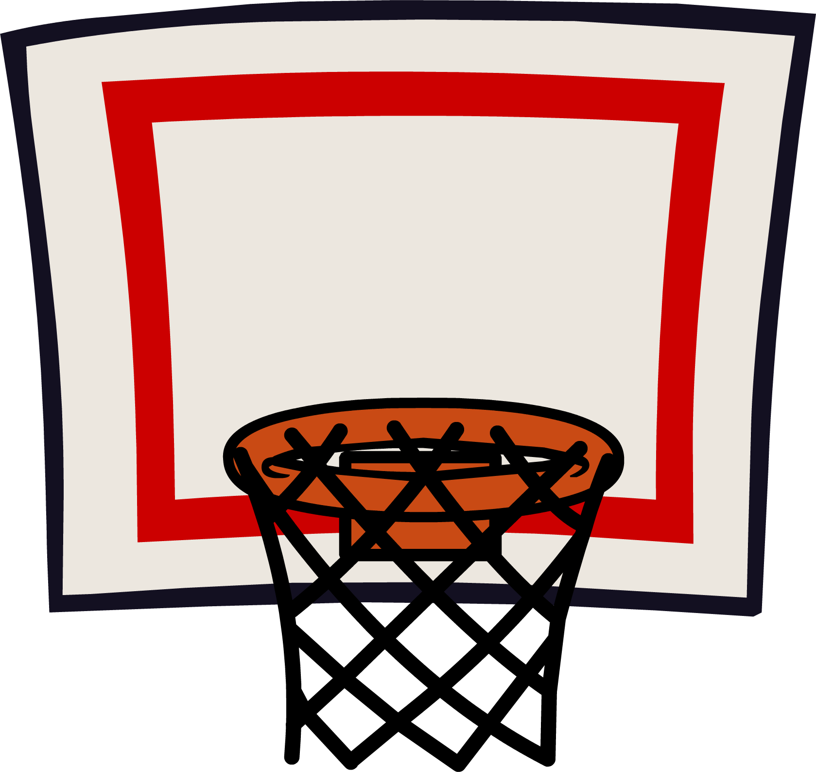 Clip net png. Basketball ring transparent stickpng