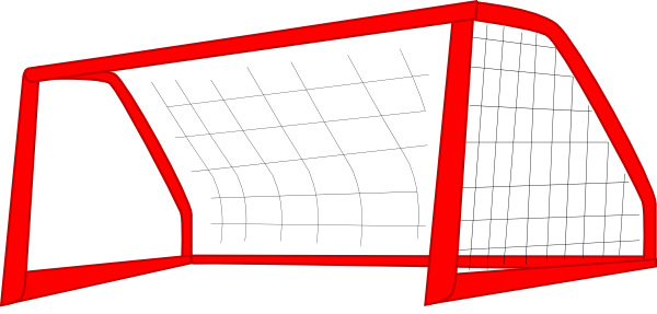 Red soccer goal enlarged. Drawing net graphic transparent download