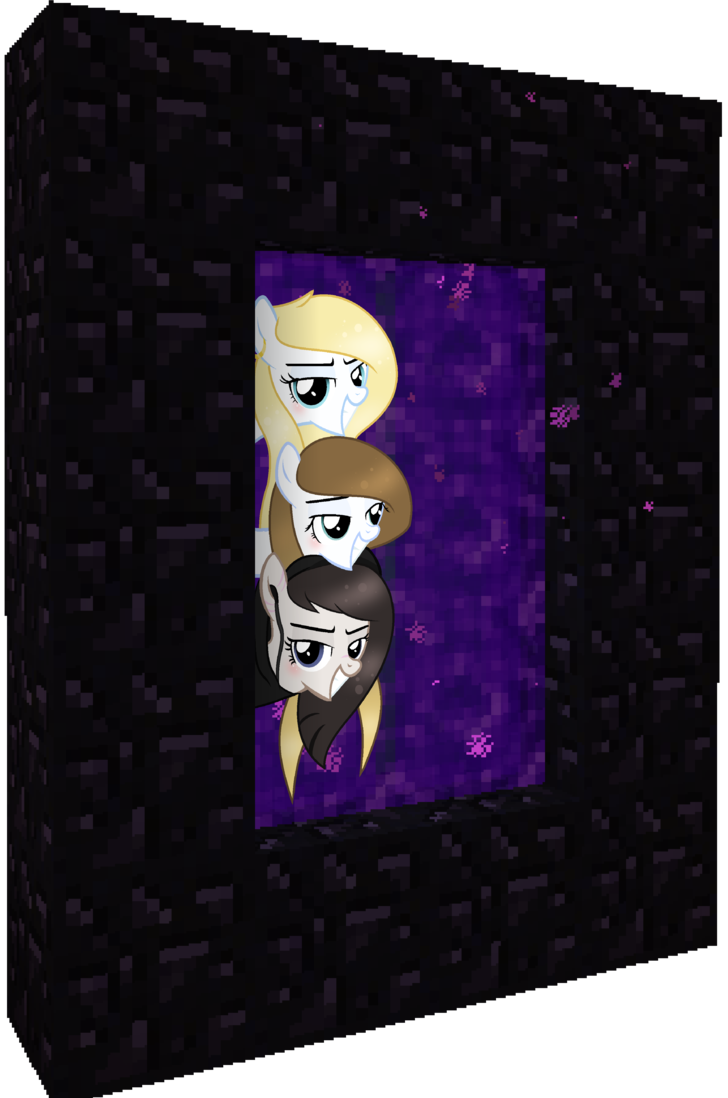 Nether portal png. Fanart we re going