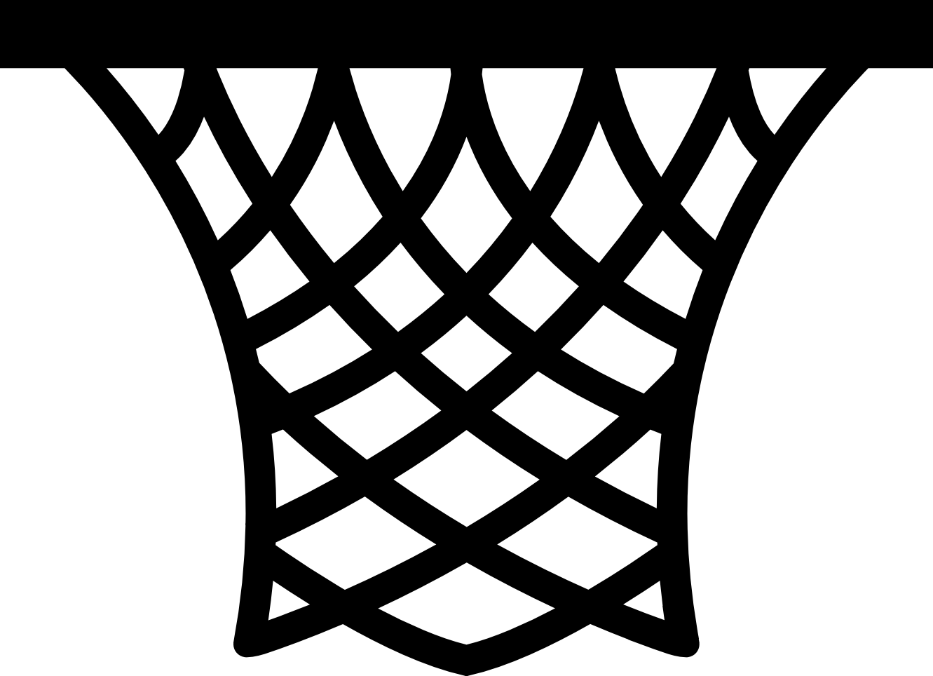 Swish vector line. Basketball net white background