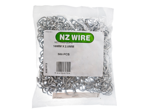 Netting clip plastic. Nz wire clips pack