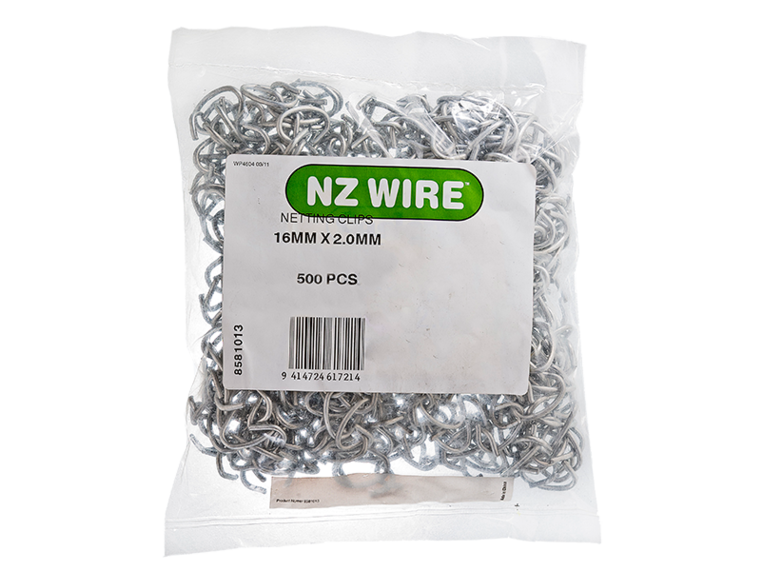 Netting clip tension wire. Nz clips pack farm