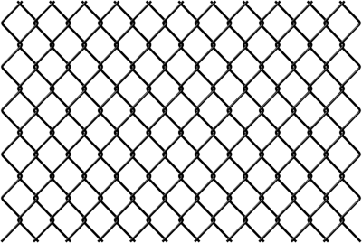 Netting vector fence wire. Transparent chain link gate