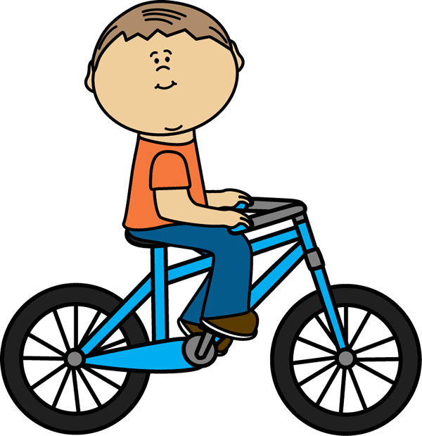 New clipart bike. Boy riding