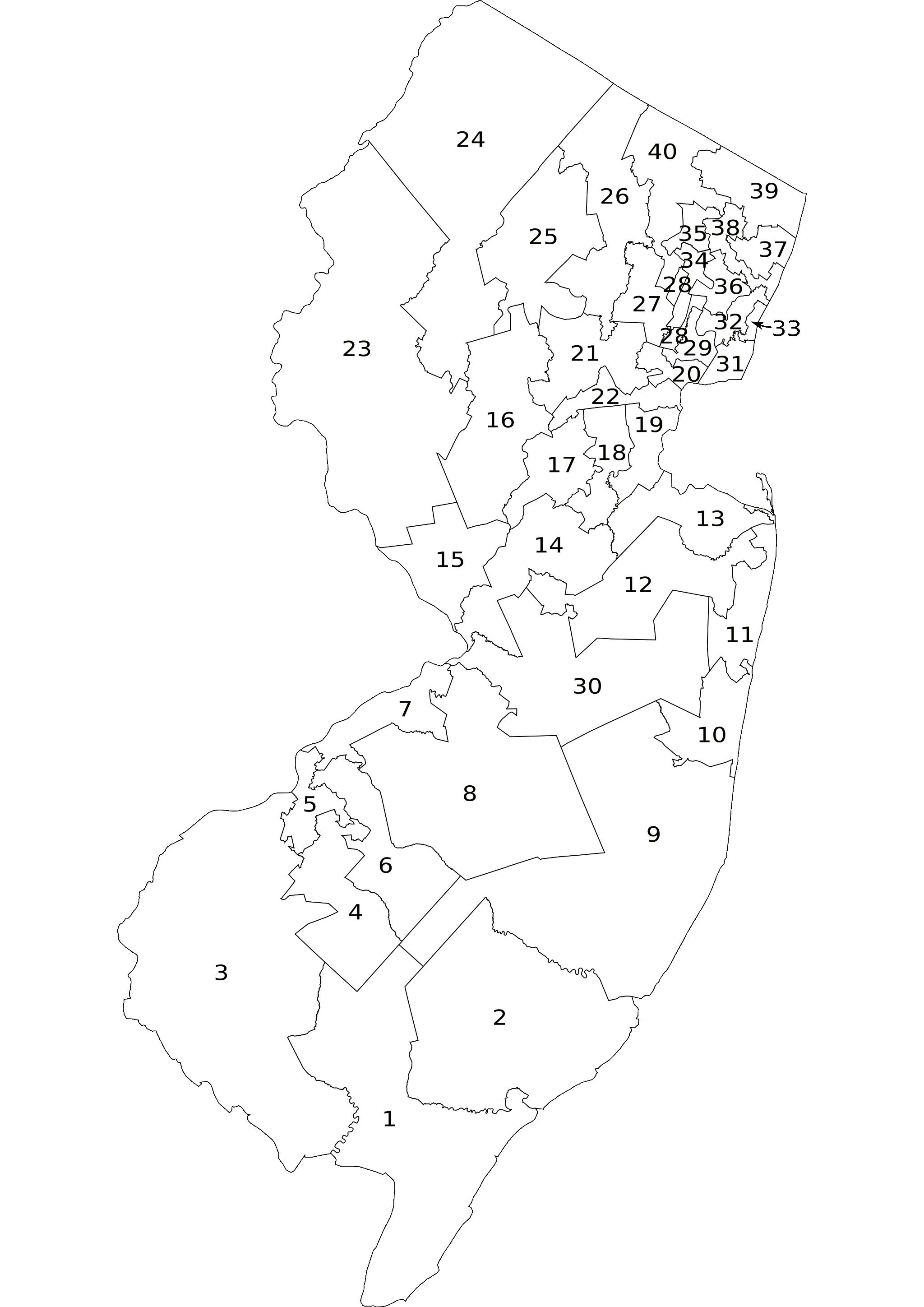 New jersey map png. File legislative districts numbered